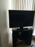 "42"" EMERSON TV AND WOOD STAND"