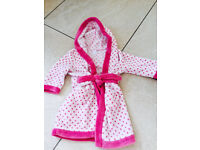 Girl's Dressing Gown, 18-24 months