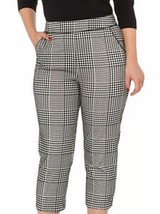FLOCKED HOUNDSTOOTH TROUSERS