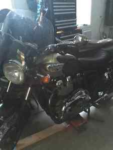 2003 Bonneville T-100 Greenwood Green and Gold