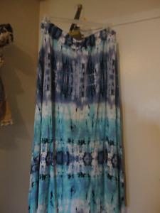 Long Maxi Tie Dye Style Skirt