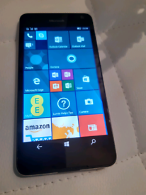 MICROSOFT LUMIA 650 BLACK COLOUR AND ON EE NETWORK. MINT
