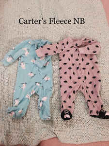 Expecting a Fall baby? Warm Fleece Newborn and Infant sleepers