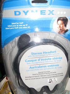 DYNEX STEREO HEADSET, NEW, FOR SALE