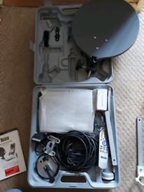 Camping satellite TV system