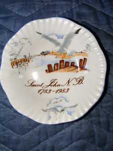 Vintage Small Saint John N.B. Bone China Plate - 1983