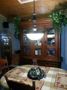 Large dinning table swag lamp fixture