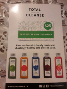 Total Cleanse raw juice  25$ gift card