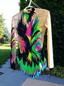 Rhythmic gymnastics competition leotard suit