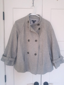 Grey Wool Coat - Gap
