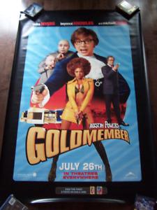 AUSTIN POWERS GOLDMEMBER original vinyl movie theater banner