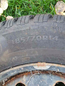 Winter tires on rims for sale. Prince George British Columbia image 1