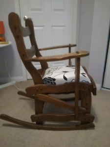 Wooden rocking  chair carpenter made no nails