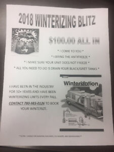 RV Winterizing!!!!