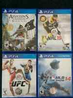 Three PS4 games for sale (Kelowna) - NHL, MLB, UFC