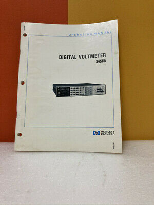 Hp 03456-90006 Model 3456a Digital Voltmeter Operating Manual