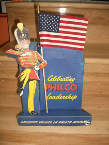 Vintage 1940 50  Majorette PHILCO drapeau USA beau display radio