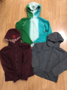 Three lululemon sweaters