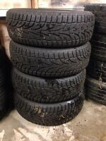 *** 4 LIKE NEW, STUDDED, WINTER CLAW TIRES ***