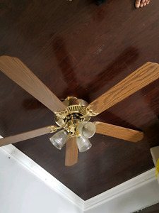 Ceiling fan with lamp 52 inch