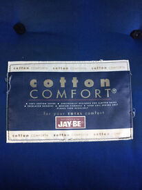 Jay Be 4.6 ft mattress and slatted base metal bed in good condition