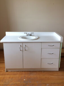 Bathroom Vanity with Sink & Faucet
