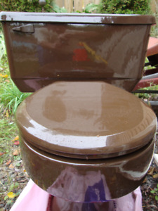 FOR SALE:  AMERICAN STANDARD DARK BROWN TOILET