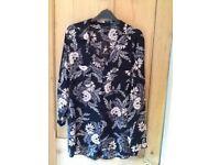 ️🌸 Size 18 chiffon feel button through long shirt New tagged