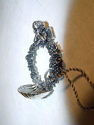 Silberschale Weihwasserschale  800er aquasantiera angelo Silberputto Silberengel