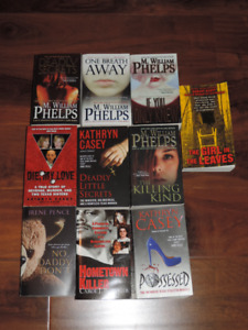 TRUE CRIME BOOKS - THEY ARE IN GREAT CONDITION