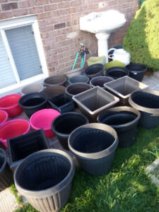 many flower pots for sale _____________________________________