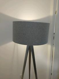 Tri pod light, with shade & bulb.