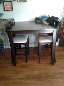 Bar Height Table and 4 Chairs - Firm!