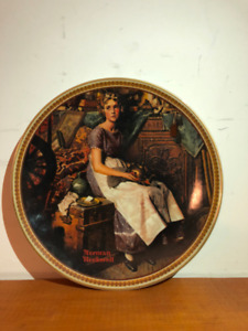 """Limited Edition Norman Rockwell  """"Dreaming in the attic"""" Plate"""