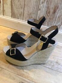 Topshop open toe wedge-heel sandals
