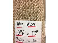 New carpet remnant - aim high beige