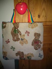 Handmade kids teddy bag