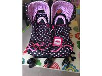 Cosatto Supa Dupa double pushchair Bow How