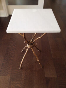 Safavieh Marble Gold Accent Table