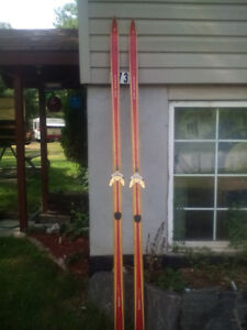 Vintage cross country skis