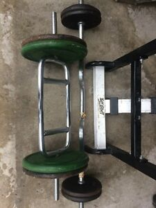 Weight bench bars and weights. Cambridge Kitchener Area image 2