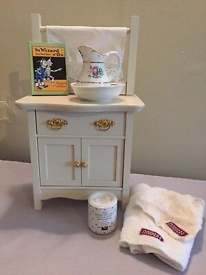 American Girl Pleasant Company Samantha Commode Nightstand Doll Cleaning Powder
