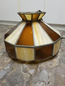 Antique Stain Glass Chandelier Light Fixture
