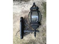 Decorative Black metal wall lamp