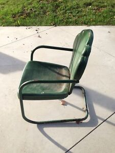 Vintage Outdoor Steel Chair (days gone by)! London Ontario image 2