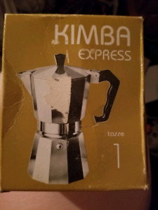 Stovetop espresso coffee maker 1 cup made in italy new