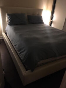 BRAND NEW QUEEN BED AND MATTRESS