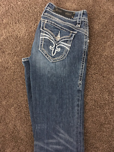Rock Revival Ladies Jeans Heather Boot Size 30