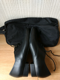 Men's black dance shoes size 9 Werner Kern. Leather