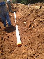 Septic Systems and Tanks built and repaired.  Pipes, Culverts
